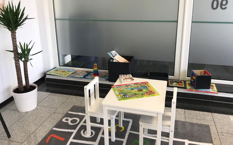 Spielecke im Wartezimmer